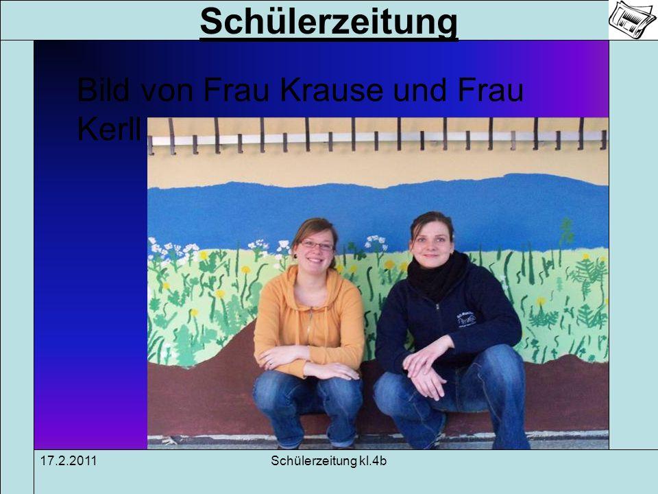 Schülerzeitung 17.2.2011Schülerzeitung kl.4b Interview mit Frau Schmidt-Abels Vorname: Sara Name: Schmidt-Abels Geburtsdatum: 6.12 Fächer: Deutsch, Musik, Englisch, SU, Kunst Wohnort: Hamburg