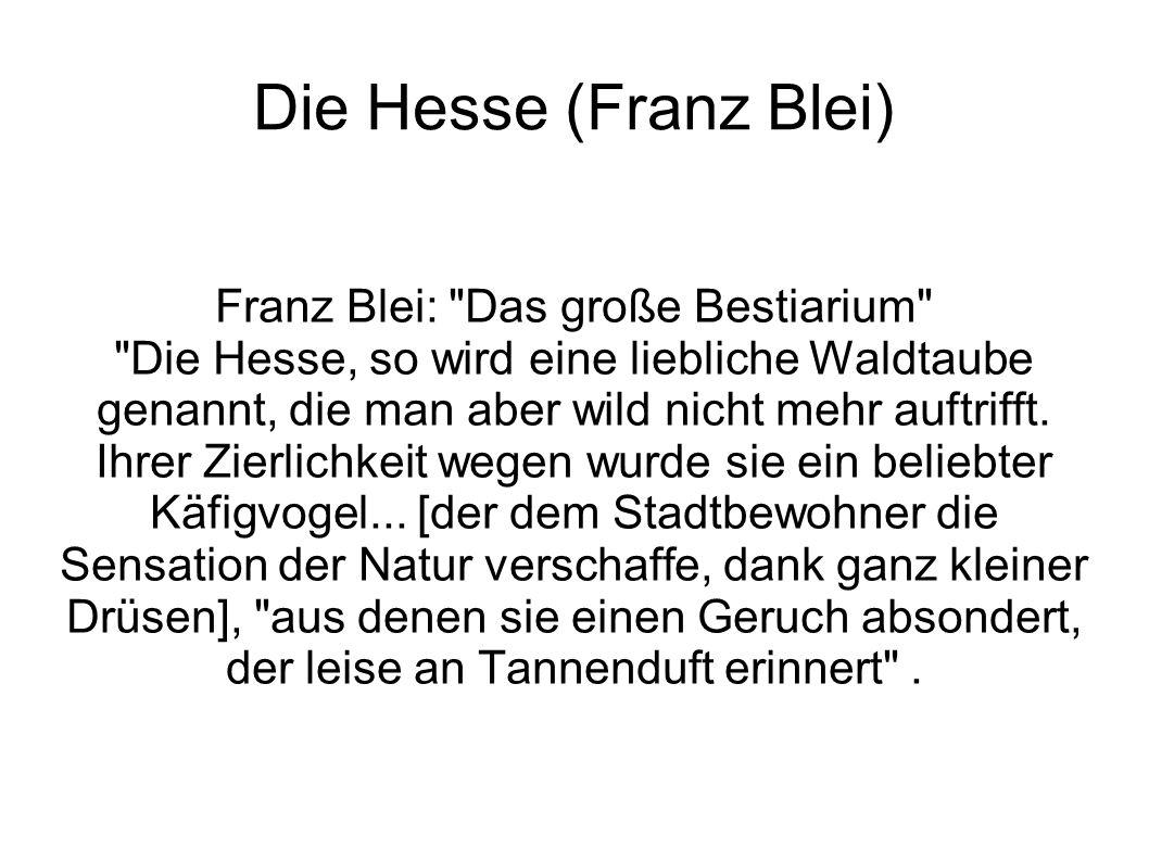 Die Hesse (Franz Blei) Franz Blei: