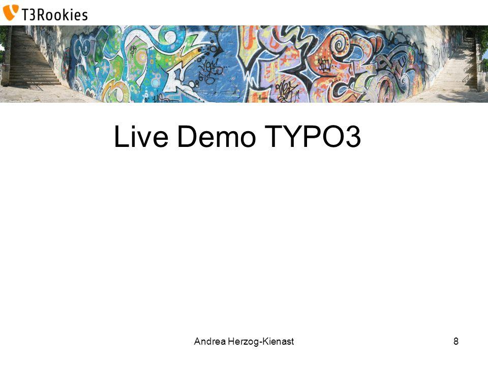 Andrea Herzog-Kienast Live Demo TYPO3 8