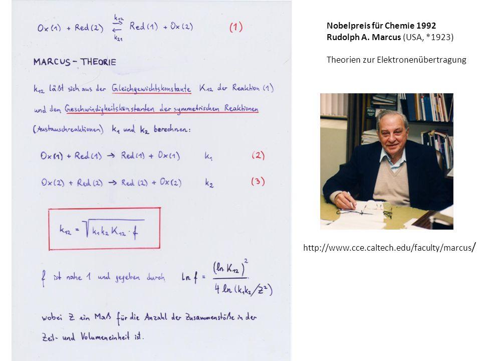 Nobelpreis für Chemie 1992 Rudolph A.