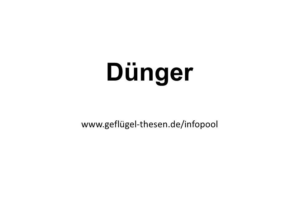 Dünger www.geflügel-thesen.de/infopool