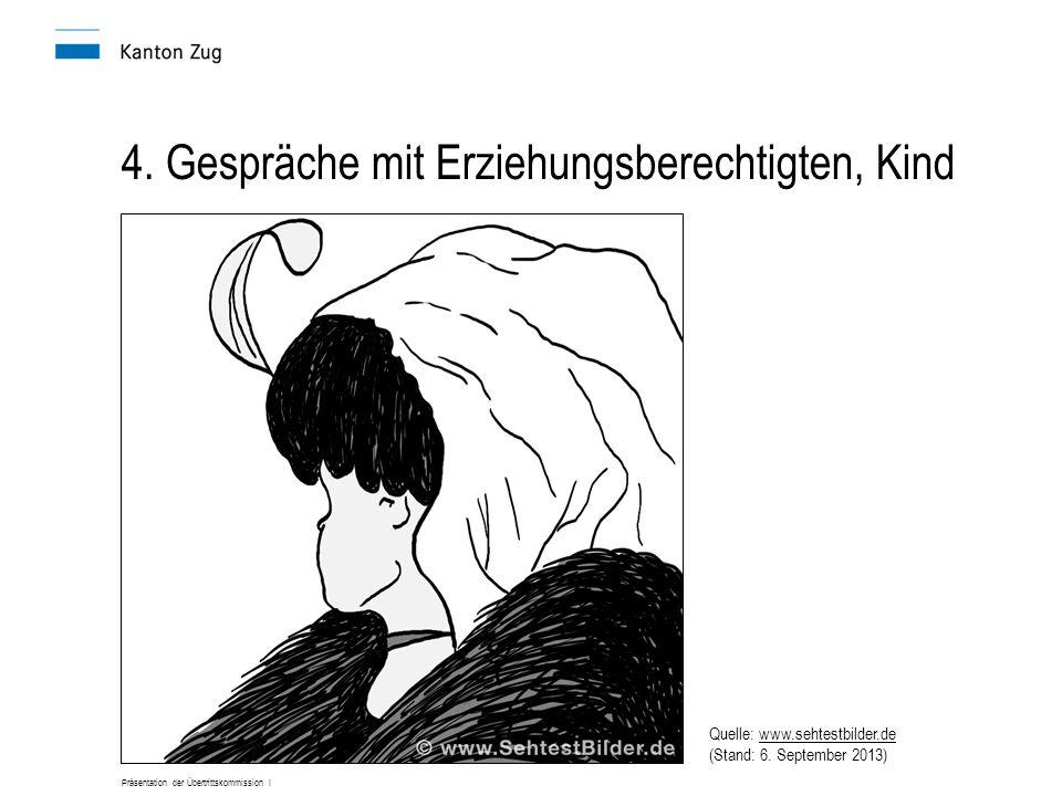 Präsentation der Übertrittskommission I 4. Gespräche mit Erziehungsberechtigten, Kind Quelle: www.sehtestbilder.de (Stand: 6. September 2013)www.sehte