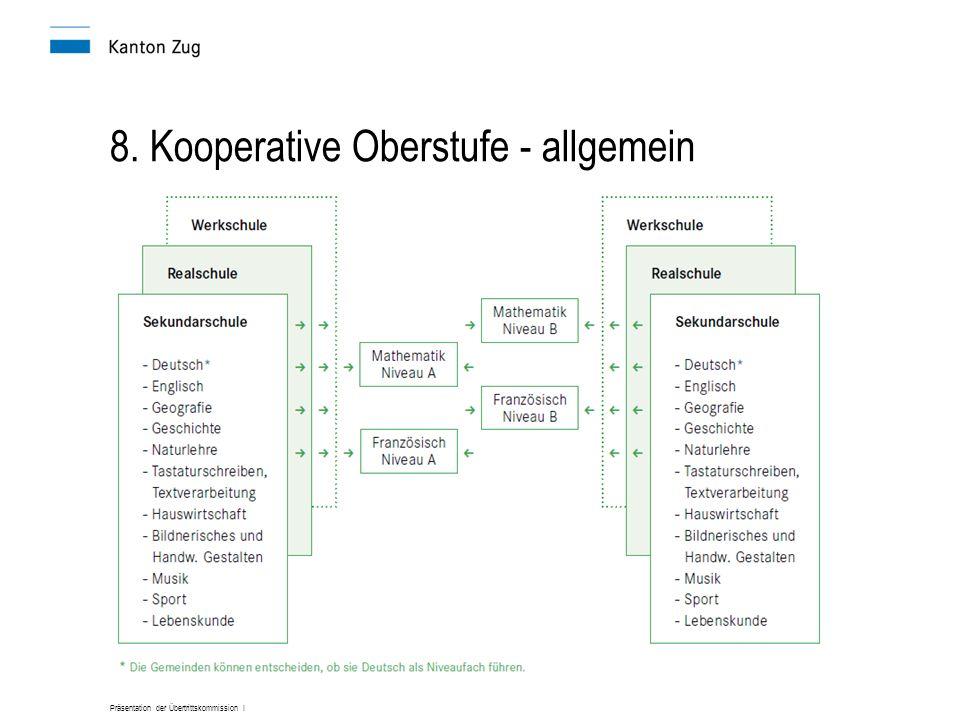 Präsentation der Übertrittskommission I 8. Kooperative Oberstufe - allgemein