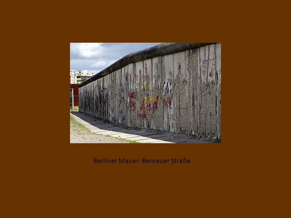 Berliner Mauer: Bernauer Straße