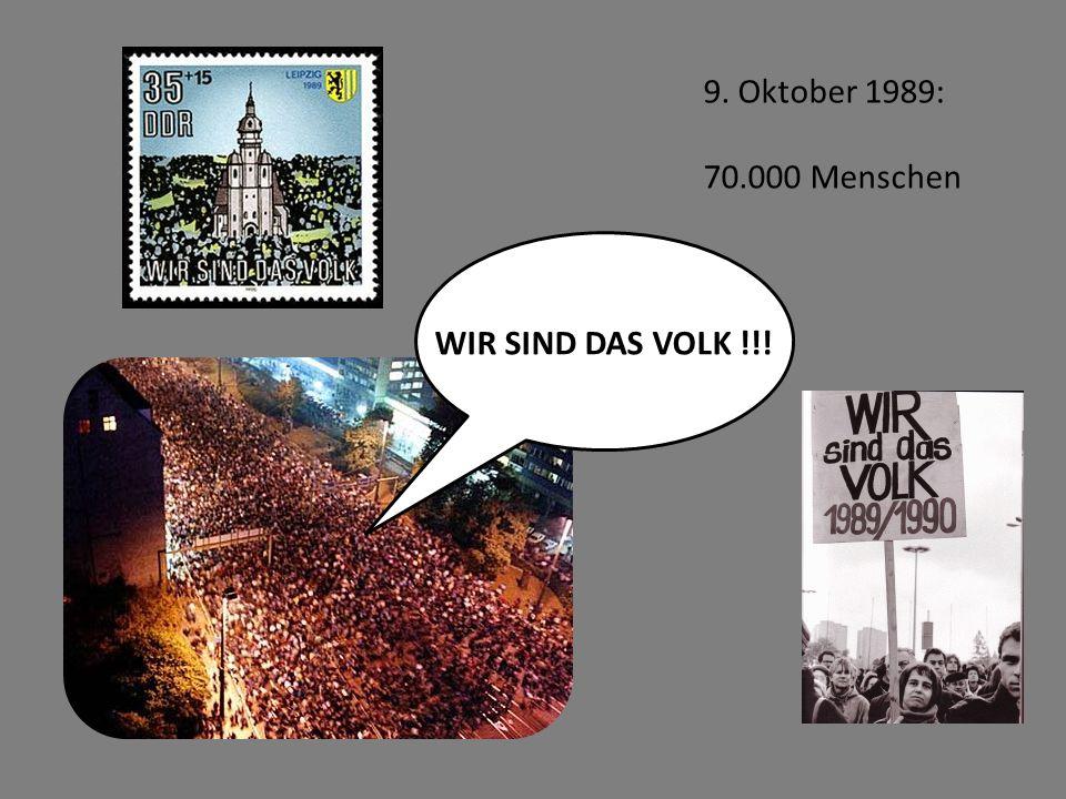 WIR SIND DAS VOLK !!! 9. Oktober 1989: 70.000 Menschen