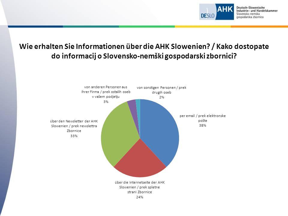 Wie erhalten Sie Informationen über die AHK Slowenien.