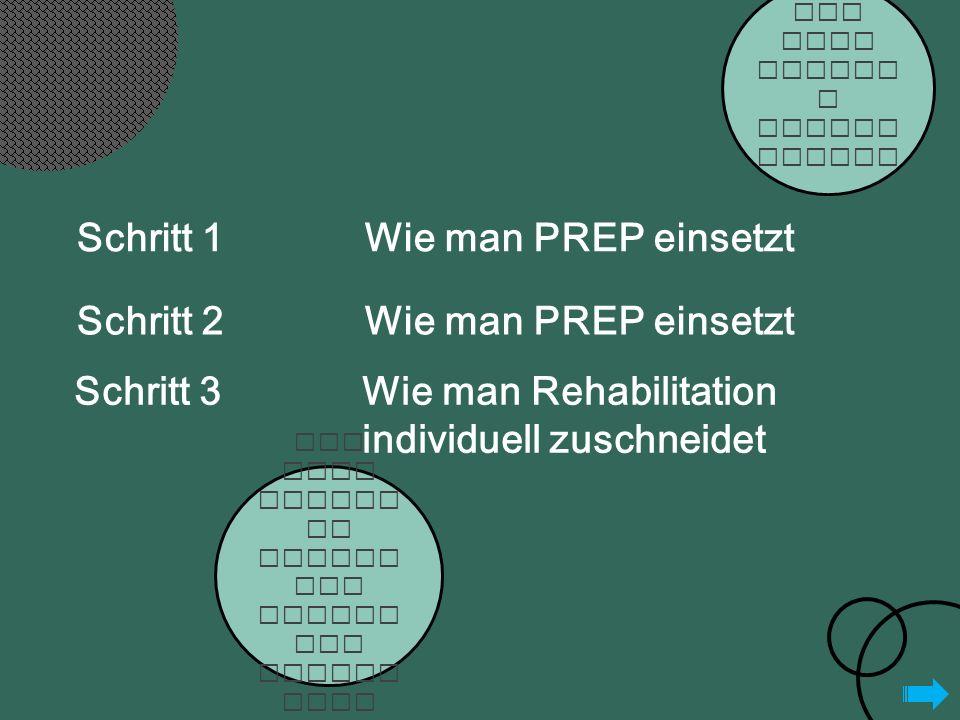 Ist PREP einfac h einzus etzen.Ist PREP wirkli ch besser als klinis che Erfahr ung.