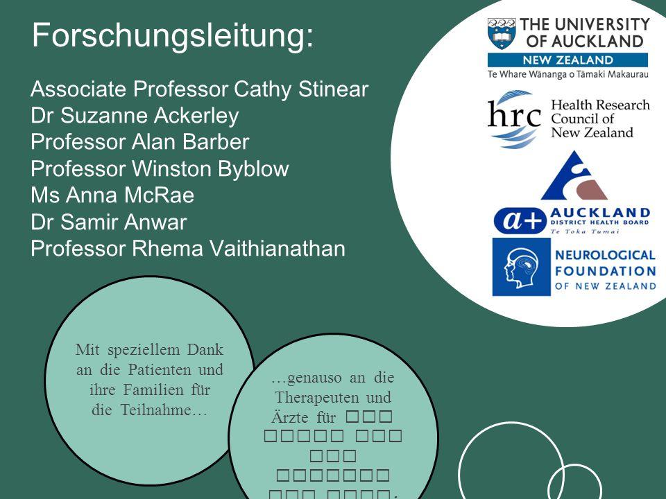 Associate Professor Cathy Stinear Dr Suzanne Ackerley Professor Alan Barber Professor Winston Byblow Ms Anna McRae Dr Samir Anwar Professor Rhema Vait