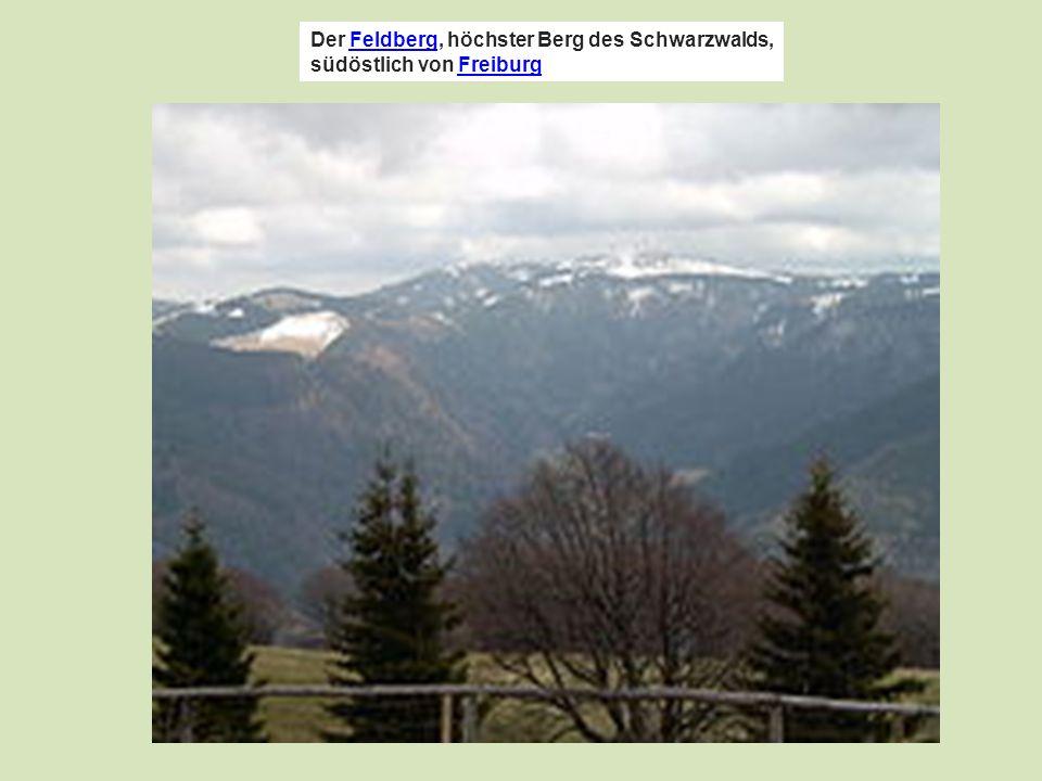 Der Feldberg, höchster Berg des Schwarzwalds, südöstlich von FreiburgFeldbergFreiburg