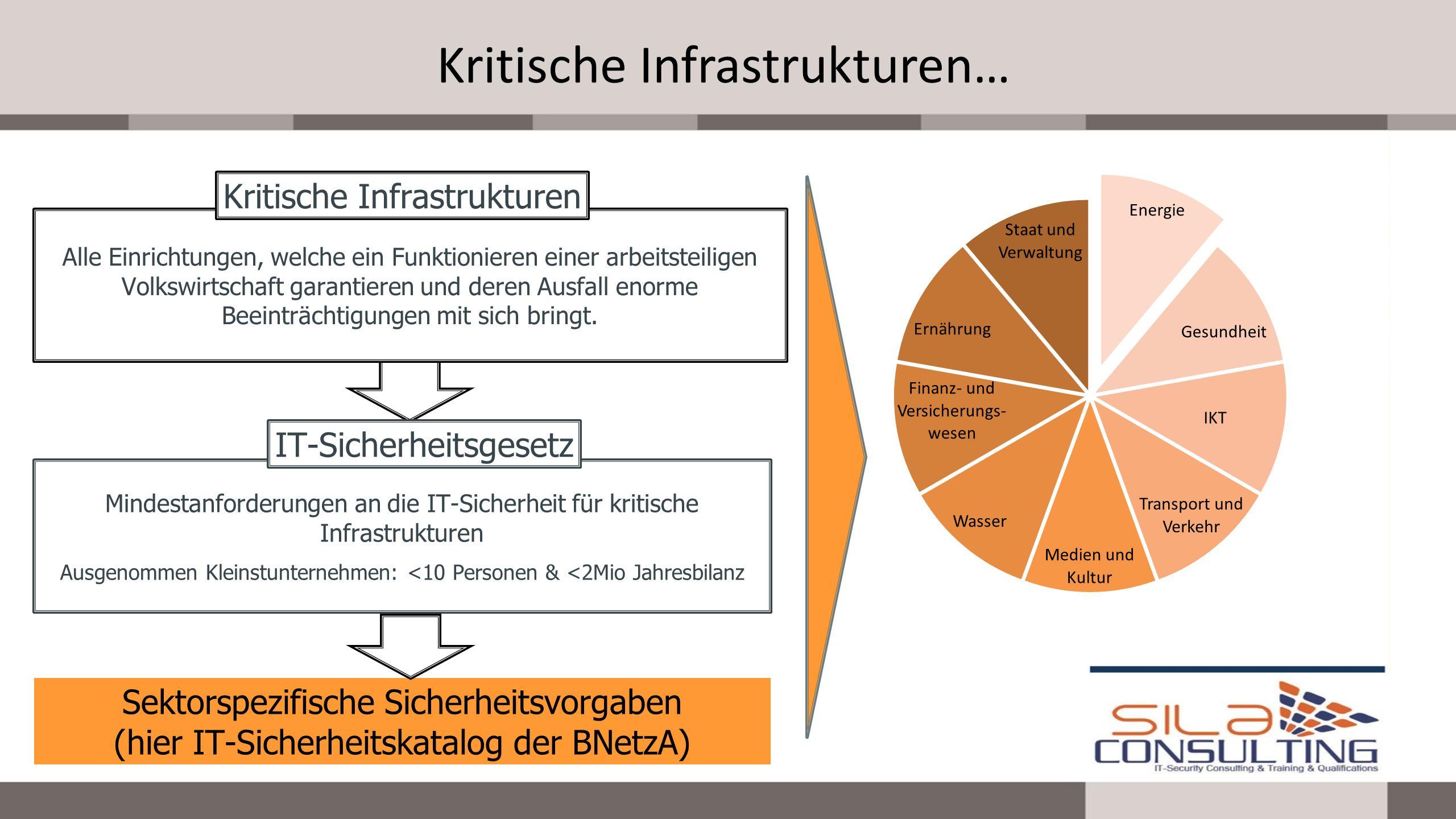 Beispiel der Konkretisierung Der Betrieb eines sicheren Energieversorgungsnetzes umfasst insbesondere auch einen angemessenen Schutz gegen Bedrohungen für Telekommunikations- und elektronische Datenverarbeitungssysteme, die der Netzsteuerung dienen.