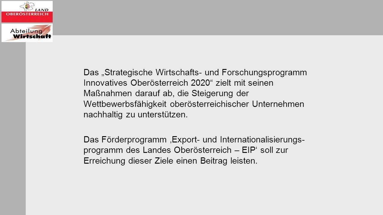 """Das """"Strategische Wirtschafts- und Forschungsprogramm Innovatives Oberösterreich 2020 zielt mit seinen Maßnahmen darauf ab, die Steigerung der Wettbewerbsfähigkeit oberösterreichischer Unternehmen nachhaltig zu unterstützen."""