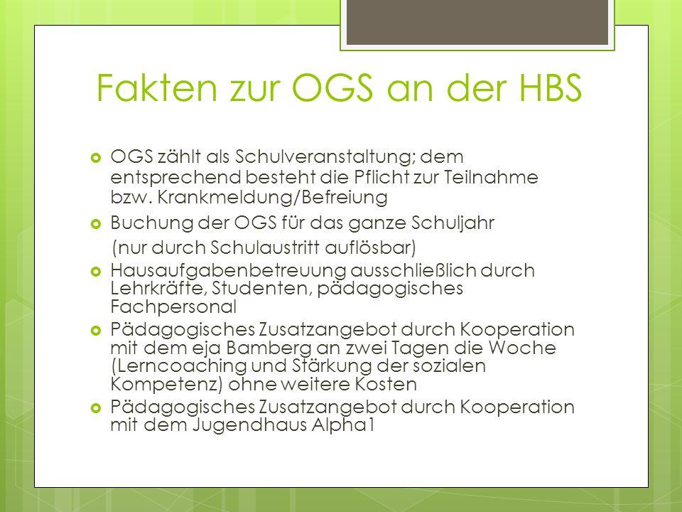  OGS zählt als Schulveranstaltung; dem entsprechend besteht die Pflicht zur Teilnahme bzw.