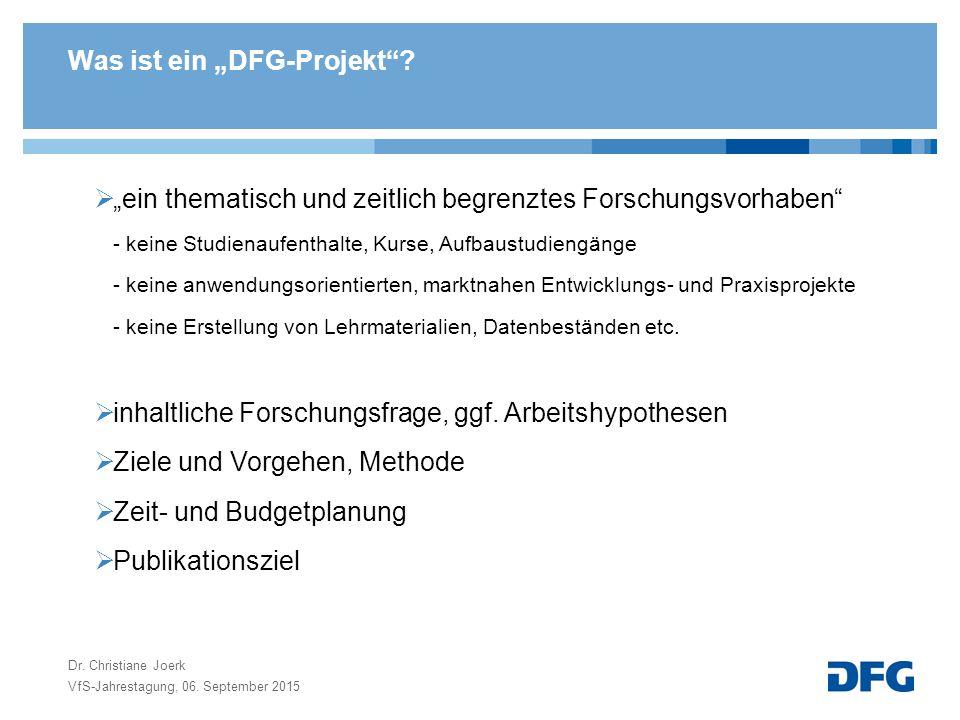"""Was ist ein """"DFG-Projekt ."""