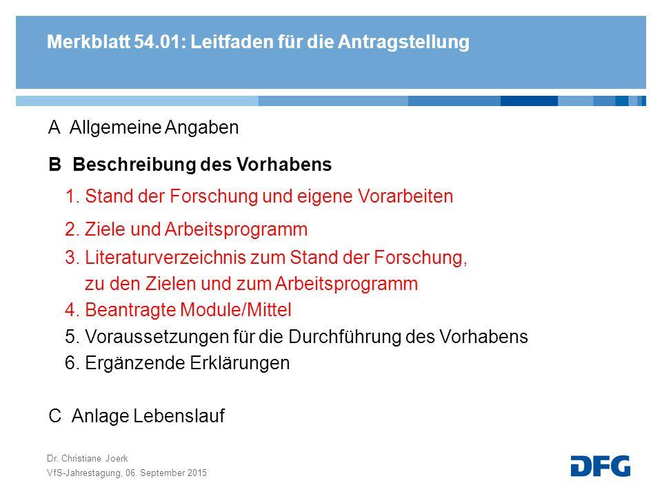 Merkblatt 54.01: Leitfaden für die Antragstellung A Allgemeine Angaben B Beschreibung des Vorhabens 1.
