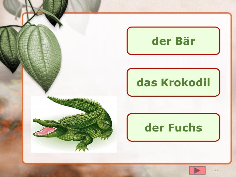 далее der Bär der Löwe der Fuchs 21