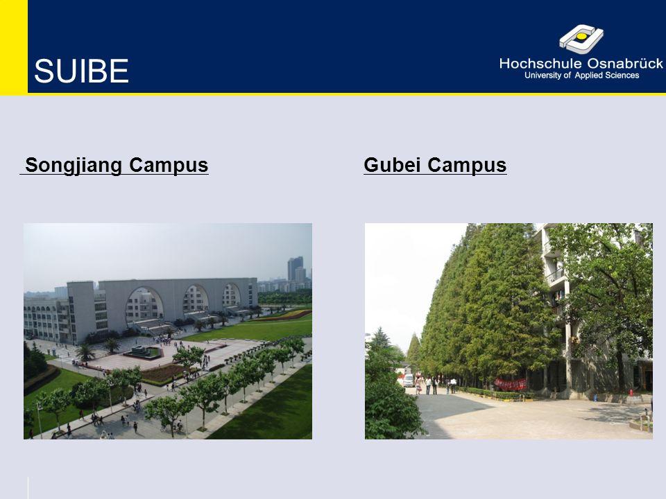 SUIBE Songjiang Campus Gubei Campus
