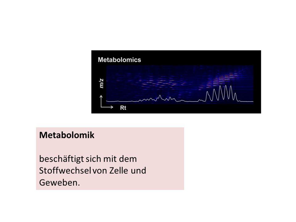 Metabolomik beschäftigt sich mit dem Stoffwechsel von Zelle und Geweben.