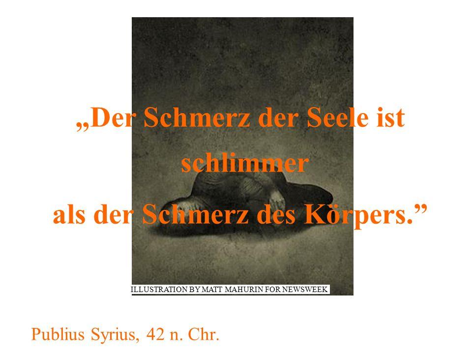 """""""Der Schmerz der Seele ist schlimmer als der Schmerz des Körpers."""" Publius Syrius, 42 n. Chr. ILLUSTRATION BY MATT MAHURIN FOR NEWSWEEK"""