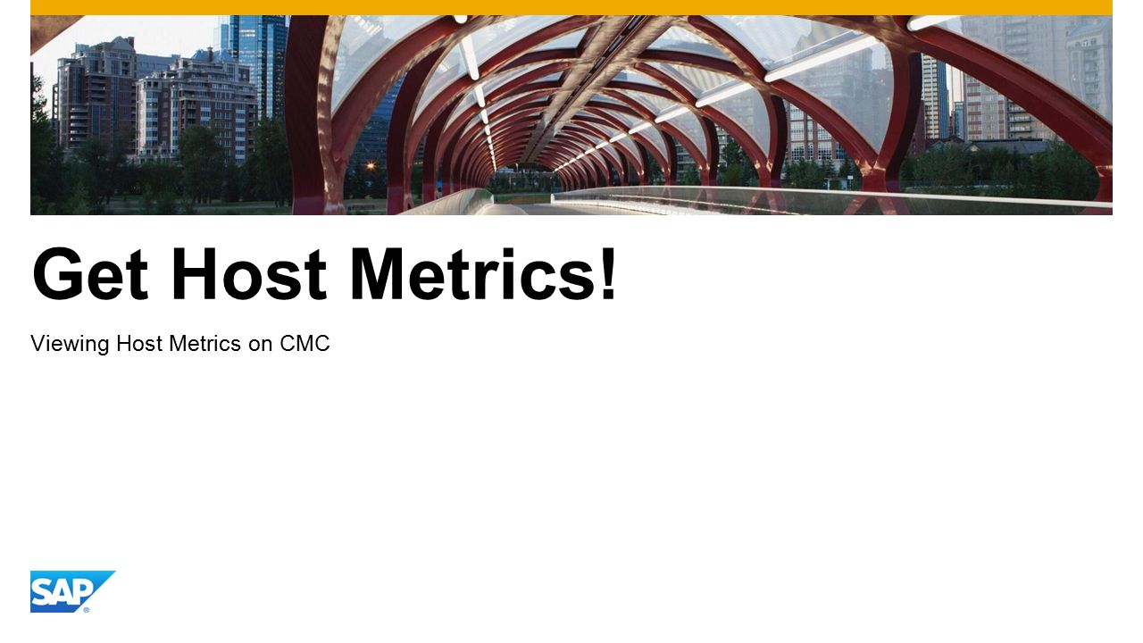 Get Host Metrics! Viewing Host Metrics on CMC