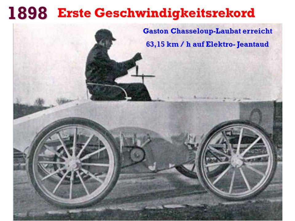 1898 Der erste Renault mit Typ A. Motor: von Dion-Bouton. Mono-Zylinder 273 cm3. Mono-Zylinder 273 cm3. Leistung: 1 PS Leistung: 1 PS. Gewicht: 250 kg