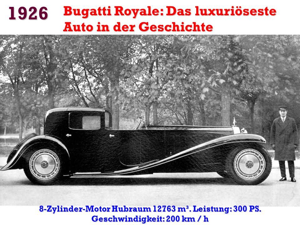 1924 Die erste Autobahn Mailand-Varese: 85 km