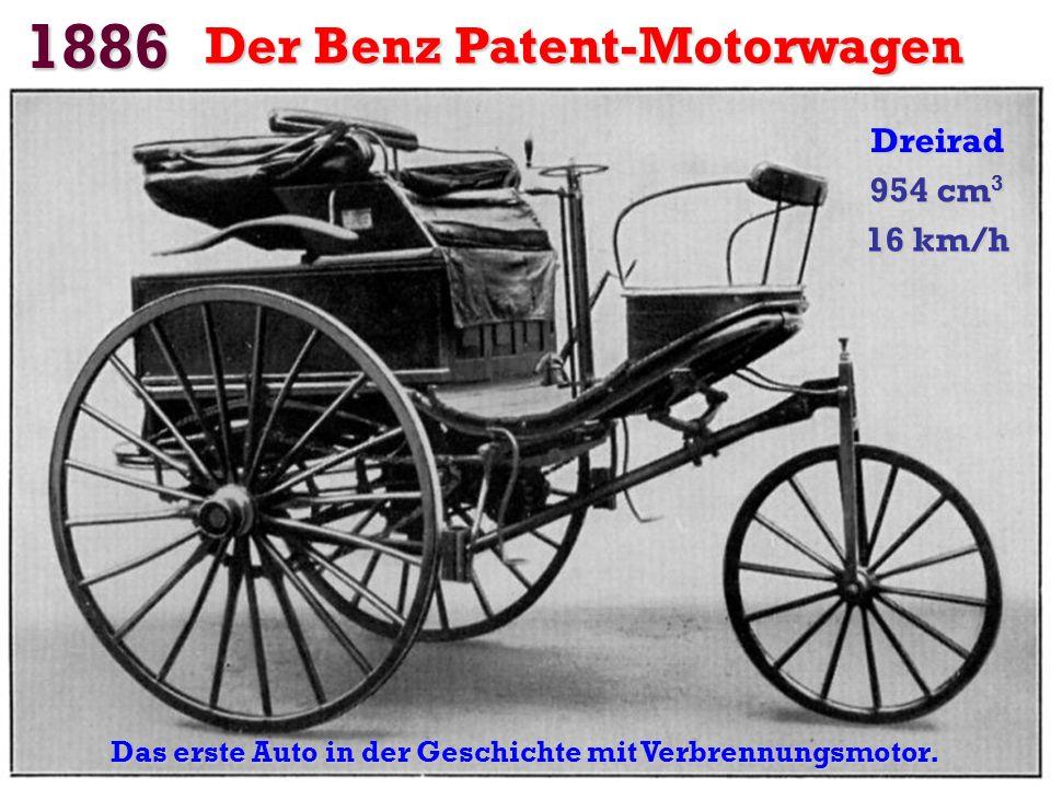 1873 Der ergebene Amedee Bollee Es wurde als das erste Auto angesehen. 2 Dampfmaschinen. 4800 kg. 12 Plätze. Geschwindigkeit: 40 km / h.