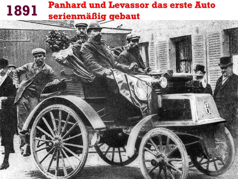 1886 Der Benz Patent-Motorwagen Das erste Auto in der Geschichte mit Verbrennungsmotor. Dreirad 954 cm 3 16 km/h