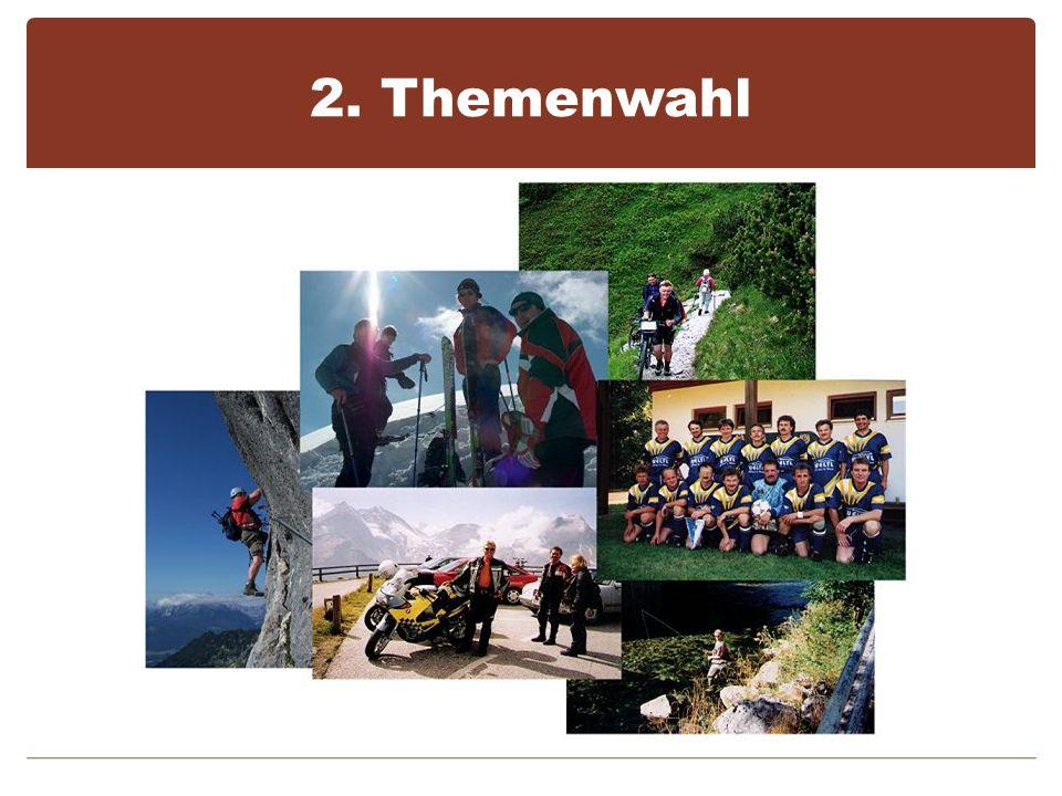 2. Themenwahl