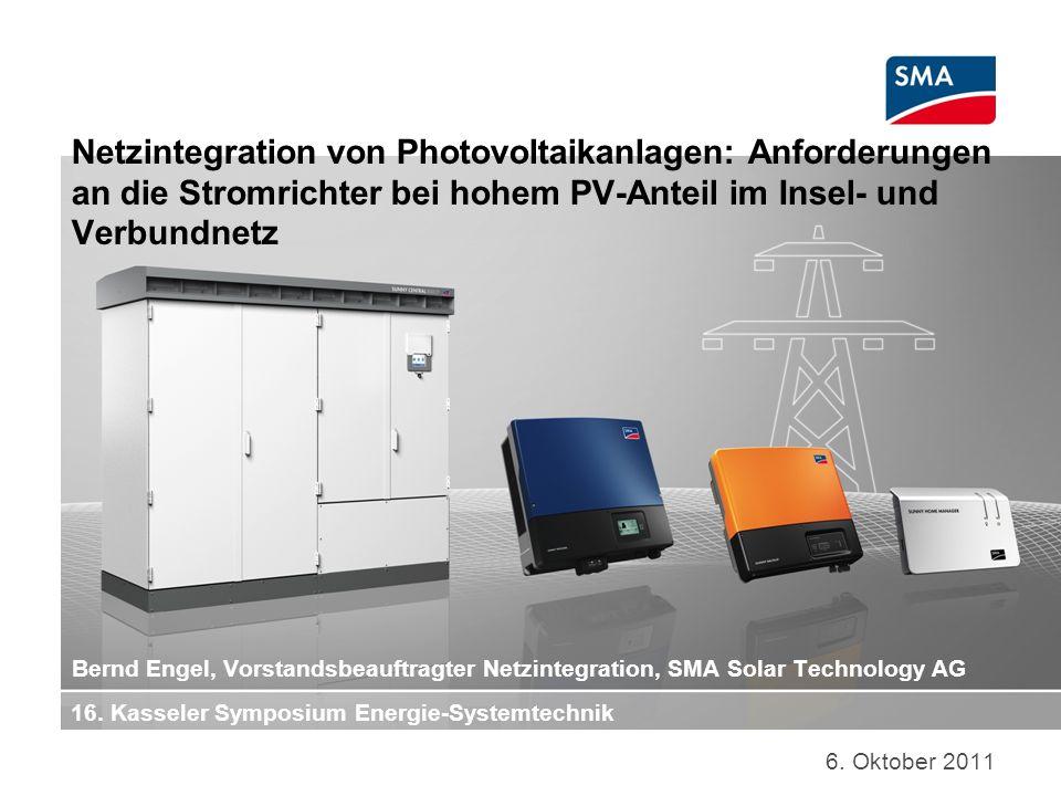 Netzintegration von Photovoltaikanlagen: Anforderungen an die Stromrichter bei hohem PV-Anteil im Insel- und Verbundnetz 6.