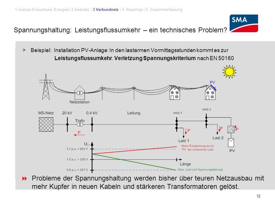 12 Spannungshaltung: Leistungsflussumkehr – ein technisches Problem.