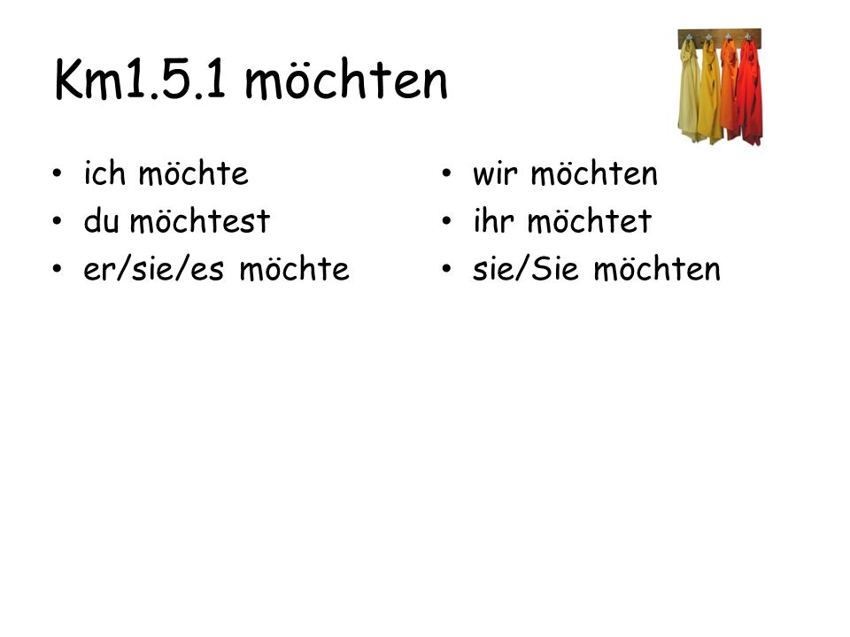 You seem to like everything in the clothing store, and you're telling your friend that you need each item.