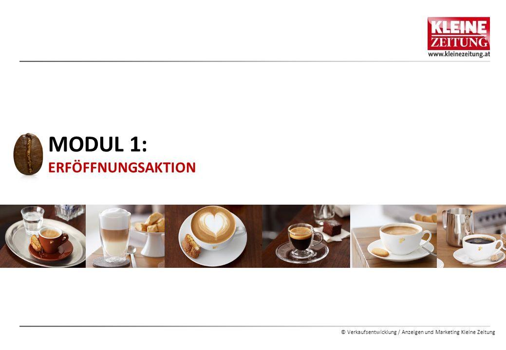 © Verkaufsentwicklung / Anzeigen und Marketing Kleine Zeitung MODUL 1: ERFÖFFNUNGSAKTION