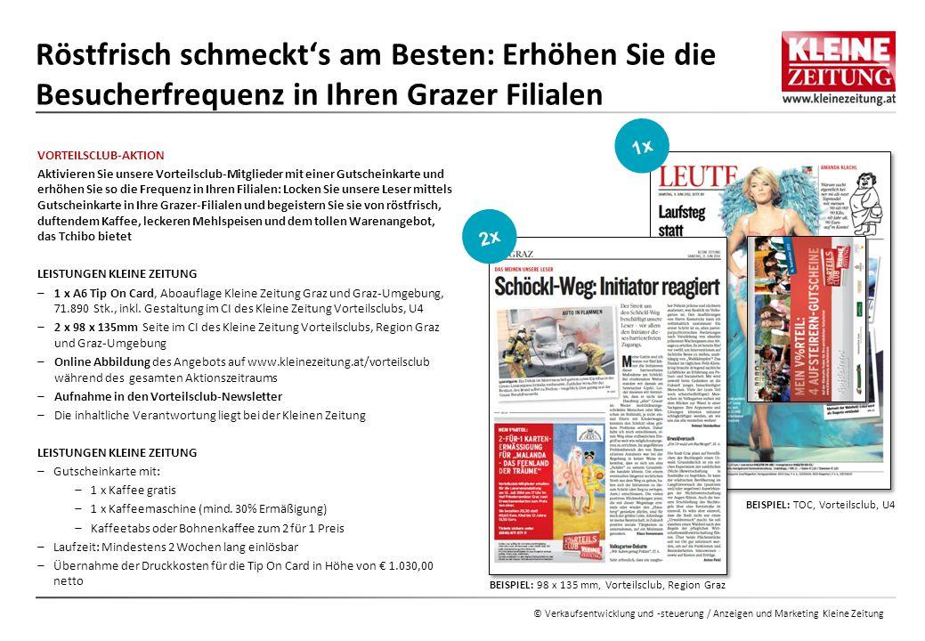 © Verkaufsentwicklung / Anzeigen und Marketing Kleine Zeitung MODUL 2: TAG DES KAFFEES