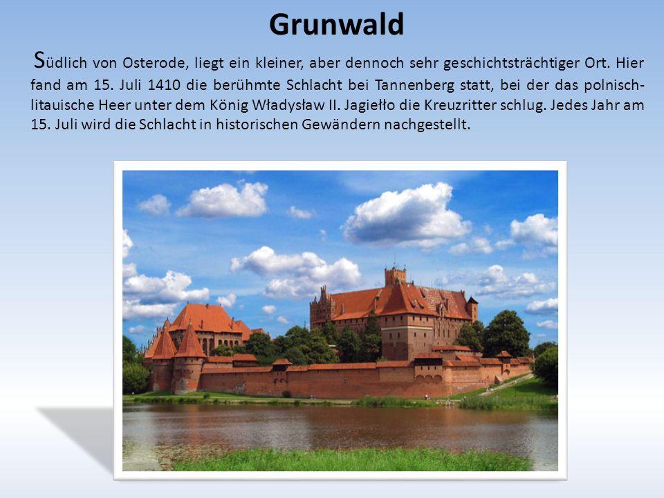 Grunwald S üdlich von Osterode, liegt ein kleiner, aber dennoch sehr geschichtsträchtiger Ort.