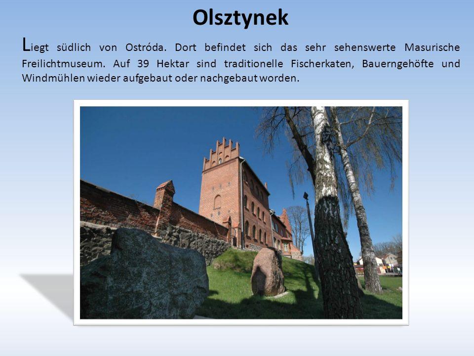 Olsztynek L iegt südlich von Ostróda.