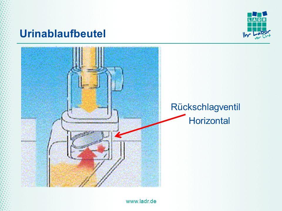 www.ladr.de Urinablaufbeutel Rückschlagventil Horizontal