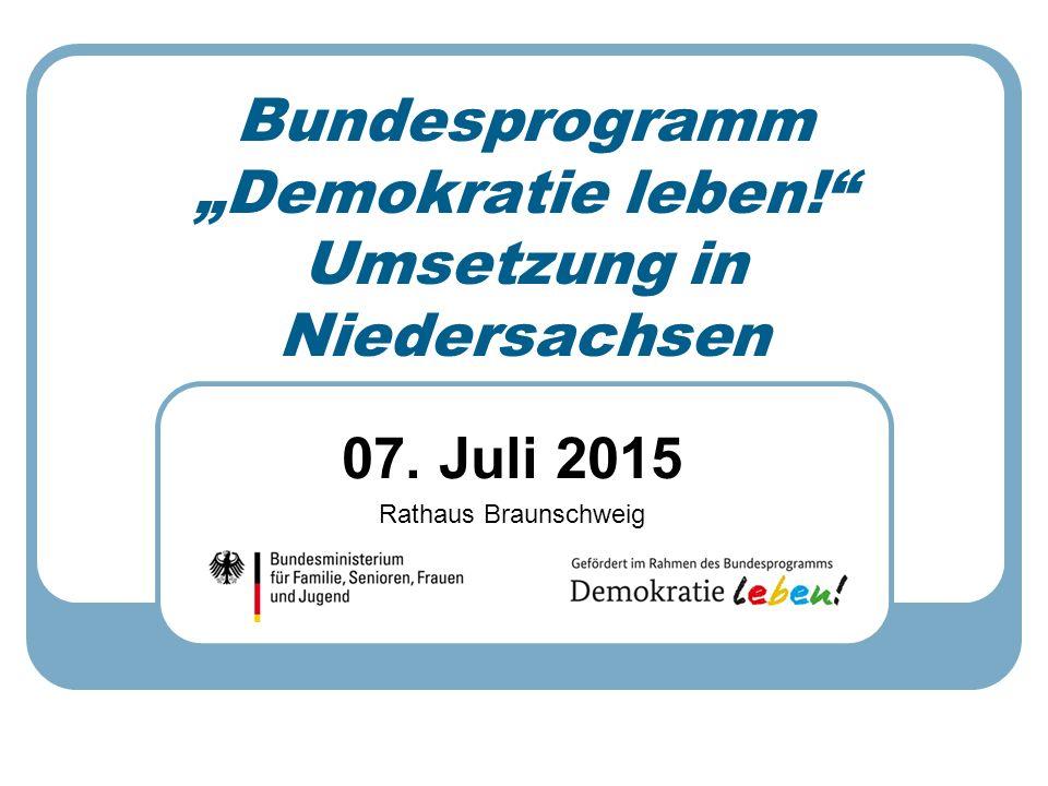 """07. Juli 2015 Rathaus Braunschweig Bundesprogramm """"Demokratie leben!"""" Umsetzung in Niedersachsen"""