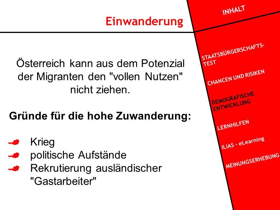 Einwanderung Österreich kann aus dem Potenzial der Migranten den vollen Nutzen nicht ziehen.