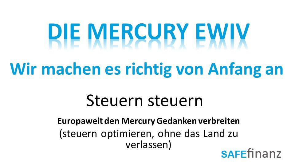 Das Ziel Der Mercury Gemeinschaft ist: Eine neue Gesellschaft, die auf dem Fundament des gegenseitigen Vertrauens aufgebaut ist.