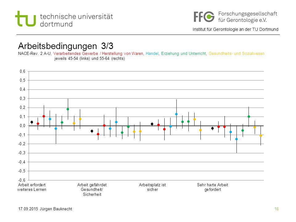 Institut für Gerontologie an der TU Dortmund 16 Arbeitsbedingungen 3/3 NACE-Rev.