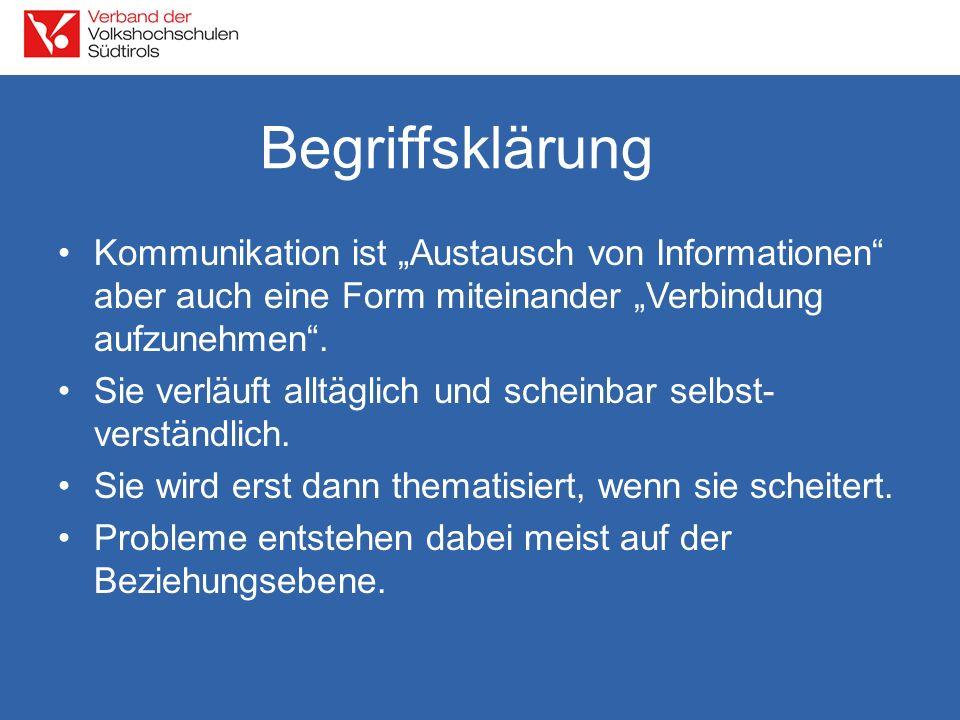 """Begriffsklärung Kommunikation ist """"Austausch von Informationen aber auch eine Form miteinander """"Verbindung aufzunehmen ."""