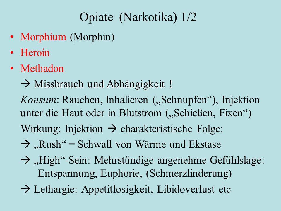 """Opiate (Narkotika) 1/2 Morphium (Morphin) Heroin Methadon Missbrauch und Abhängigkeit !  Missbrauch und Abhängigkeit ! Konsum: Rauchen, Inhalieren ("""""""