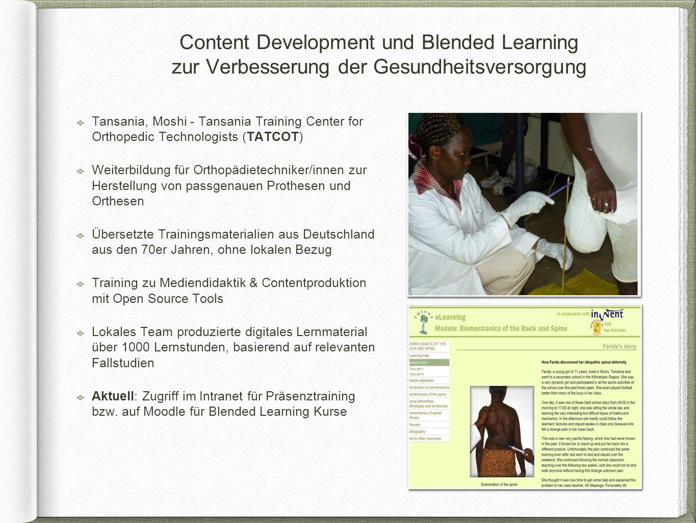 Tansania, Moshi - Tansania Training Center for Orthopedic Technologists (TATCOT) Weiterbildung für Orthopädietechniker/innen zur Herstellung von passg