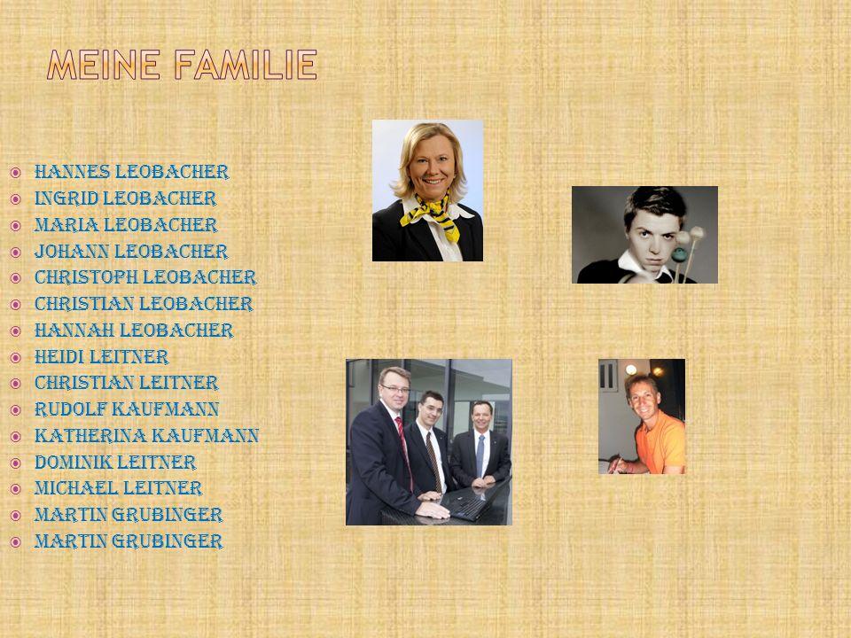  Hannes Leobacher  Ingrid Leobacher  Maria Leobacher  Johann Leobacher  Christoph Leobacher  Christian Leobacher  Hannah Leobacher  Heidi Leit