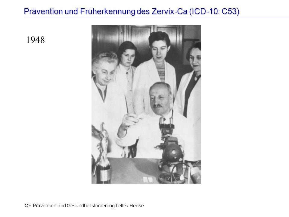 Prävention und Früherkennung des Zervix-Ca (ICD-10: C53) QF Prävention und Gesundheitsförderung Lellé / Hense 58 1948