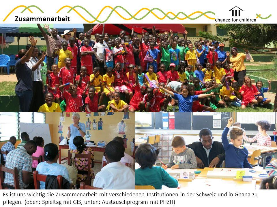 Ziele 2015 Zusammenarbeit Es ist uns wichtig die Zusammenarbeit mit verschiedenen Institutionen in der Schweiz und in Ghana zu pflegen.