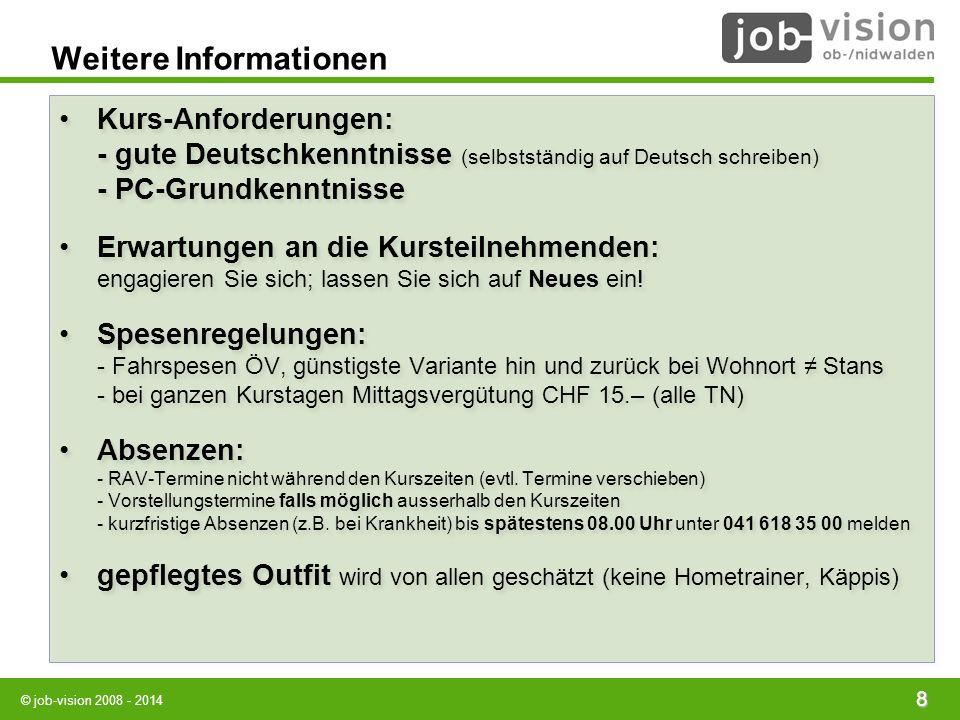 Weitere Informationen Kurs-Anforderungen: - gute Deutschkenntnisse (selbstständig auf Deutsch schreiben) - PC-Grundkenntnisse Erwartungen an die Kurst