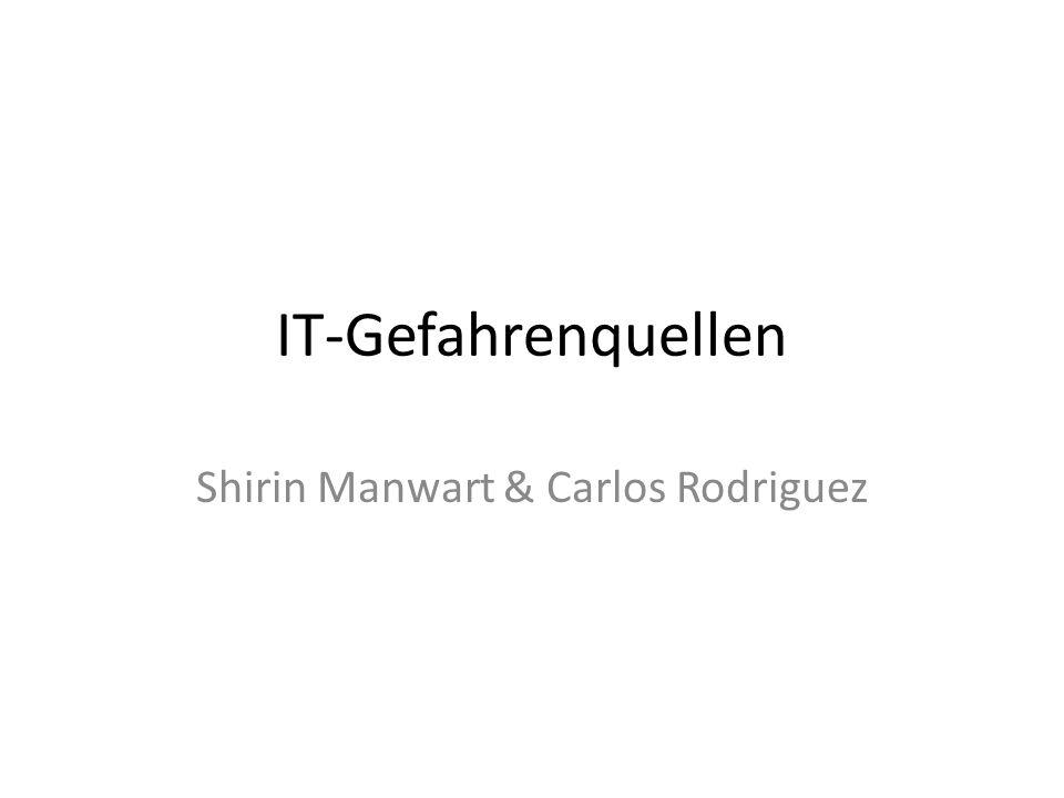 Inhalt Aufteilung der IT-Gefahrenquellenarten Schadensbilanz Umwelteinflüsse Zugang unautorisierte Personen Bösartige Programmcode Technische Fehler Zehn Größten Internet Gefahren