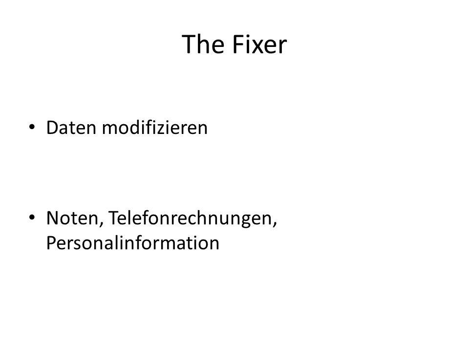 The Fixer Daten modifizieren Noten, Telefonrechnungen, Personalinformation