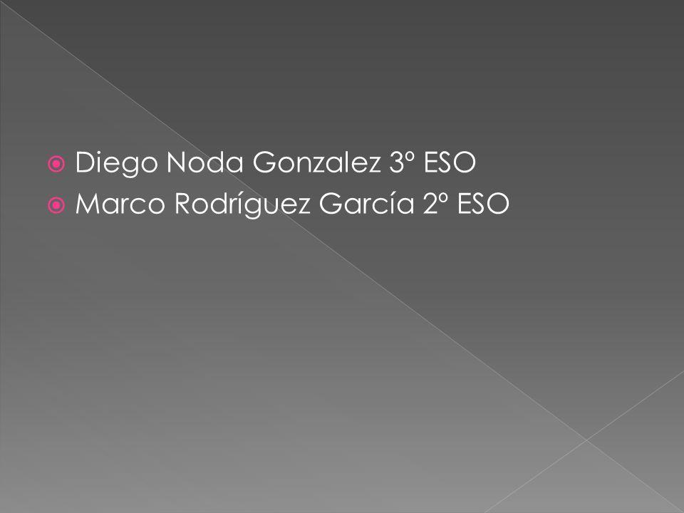  Diego Noda Gonzalez 3º ESO  Marco Rodríguez García 2º ESO